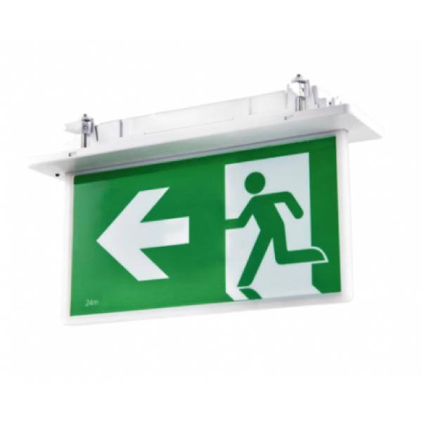 LED Emergency Exit Sign-SLIM Recessed